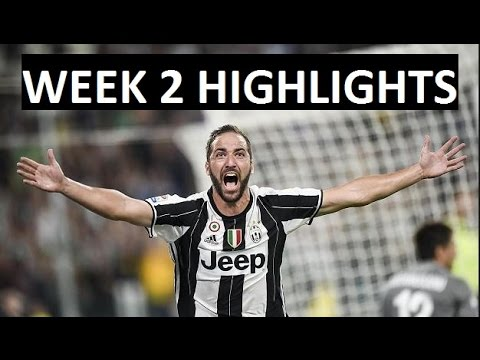 Italian serie a highlights | week 2 goals and scores 2016