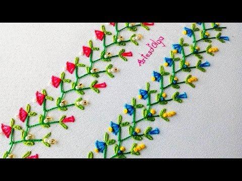 Hand Embroidery: Decorative Stitches 7  Bordado a mano: Puntadas Decorativas 7  ArtesdOlga