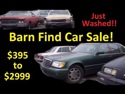 Buy Classic Car Barn Finds For Sale $395 to $3000 Just Washed Cars
