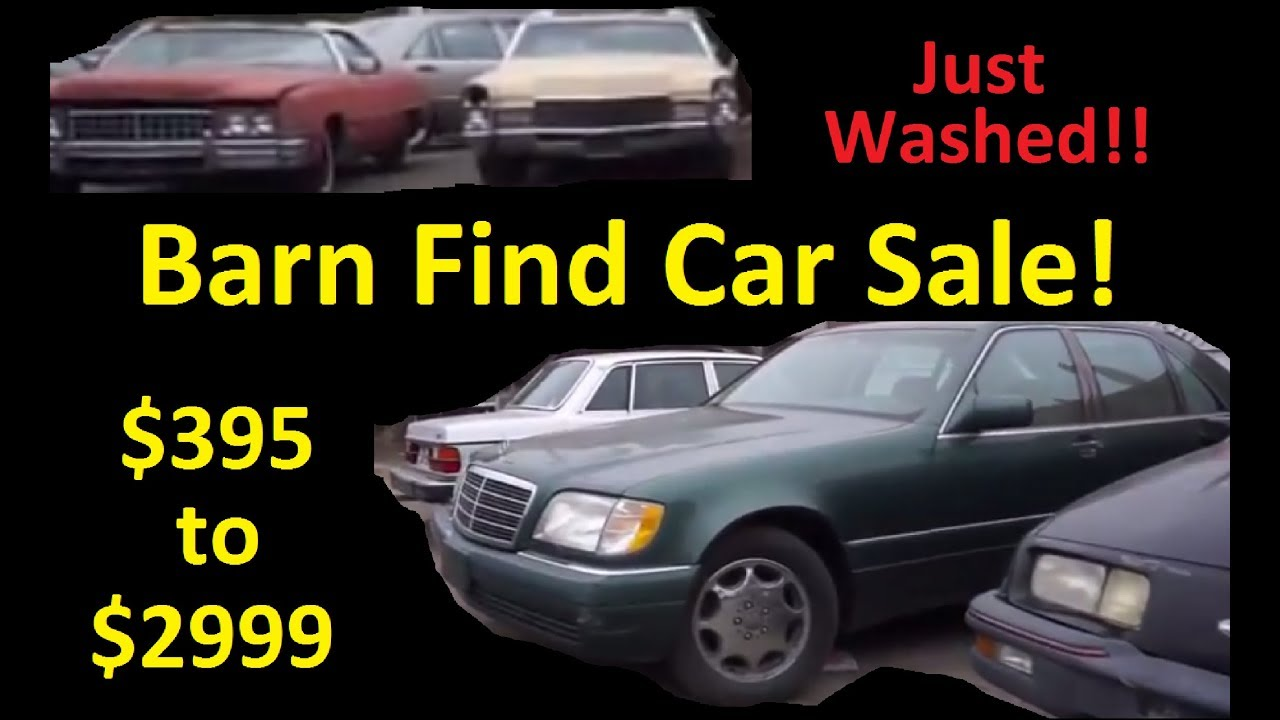 Buy Classic Car Barn Finds For Sale 395 To 3000 Just Washed Cars