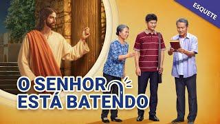 """Esquete cristã no teatro """"O Senhor está batendo"""" O Senhor Jesus Cristo voltou (Maravilhosa)"""