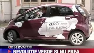 Victor Ponta conduce o masina electrica 14 IUNIE 2011