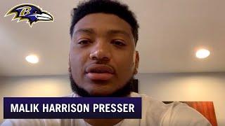 Malik Harrison Talks Teaming Up With Patrick Queen | Baltimore Ravens