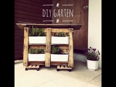 diy idee vertikaler garten aus paletten upcycling youtube. Black Bedroom Furniture Sets. Home Design Ideas
