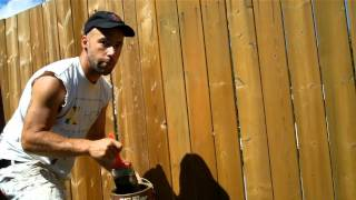 "Rick Richard The How-to Handyman In ""how To Paint A Fence"""