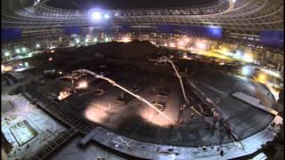 Строительство стадиона Лужники