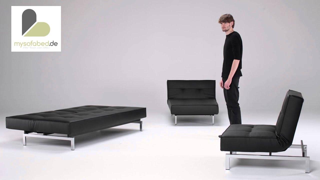 Schlafsofa Sessel Splitback Von Innovation Mit Chromefüßen