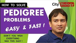 PEDIGREE  ANALYSIS : Quick And Fast Problem solving for NEET/AIIMS