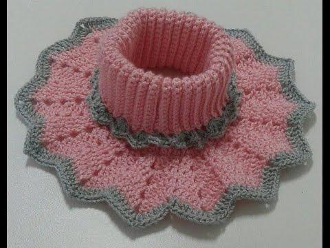 Agacharse dueño Factura  cuello niña todas las tallas a crochet - YouTube