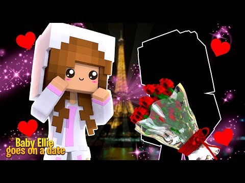BABY ELLIE'S FIRST KISS !! | Minecraft w/ Little Kelly