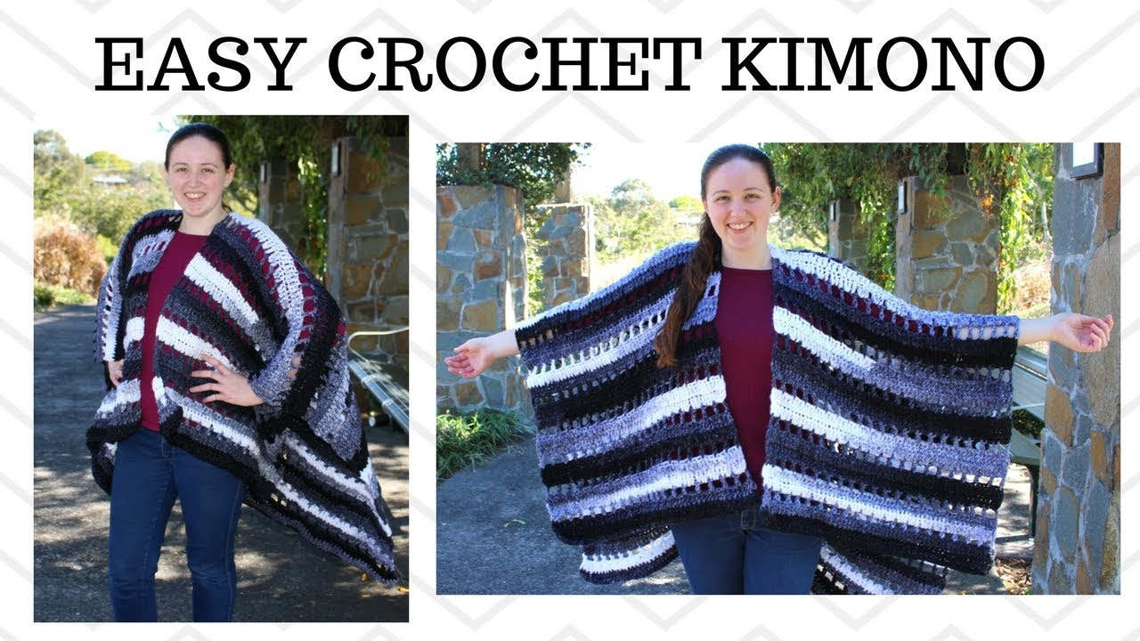 Easy Crochet Kimono - Crochet Ruana - YouTube