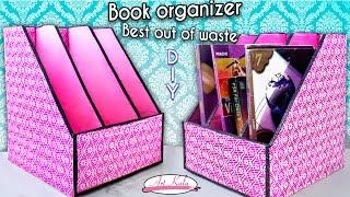How to make book holder | Book organizer | Best out of waste | DIY | Artkala 144