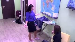Виктория Романец, Виктория Берникова ДОМ2 в японских легендарных педикюрных носочках SOSU (23.02.15)