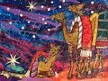 How I Use Gelli Prints on deli paper to make a Whimsical Wise Men Nativity Scene with Camels