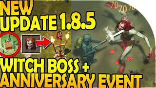 NEW UPDATE 1.8.5 - NEW WITCH BOSS + HEAD, ANNIVERSARY EVENT- Last Day On Earth Survival Update 1.8.5