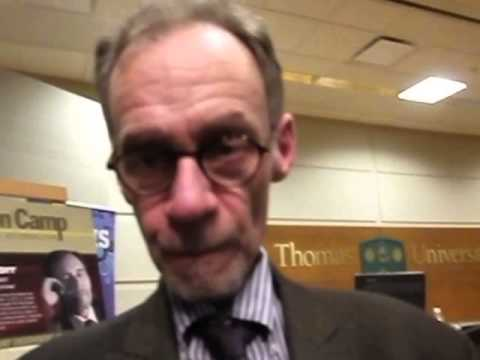 New York Times media reporter David Carr is confronted by the Blogger at St. Thomas University