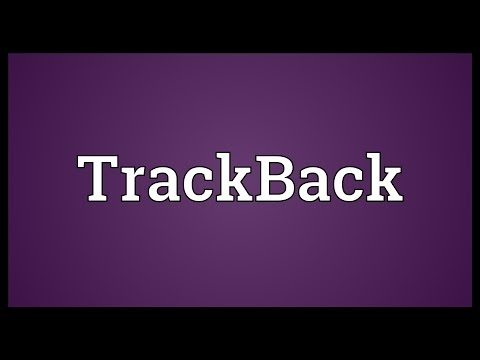 TrackBack Meaning
