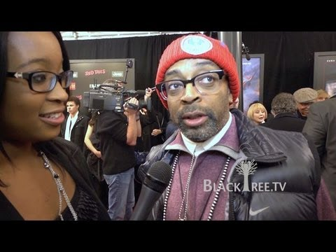 Spike Lee & George Lucas discuss Red Tails NYC Premier Red Carpet