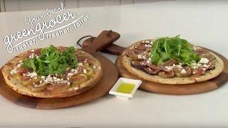 Fig rocket prosciutto & feta pizza