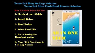 Tecno in5 dead boot recover flash file