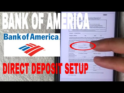 ✅  Setup Bank Of America Direct Deposit 🔴