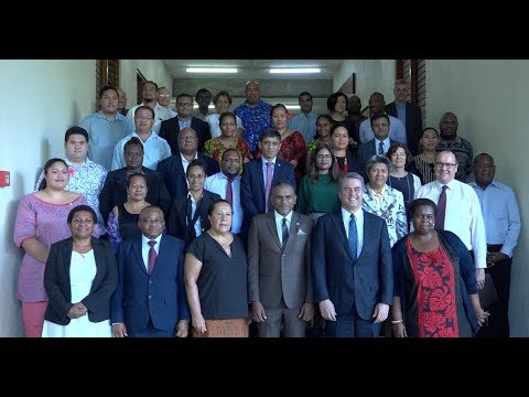 Fijian Minister for Industry and Trade delivers remarks at WTO Regional Workshop