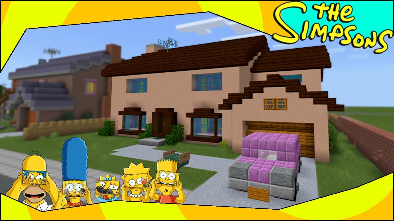 Minecraft The Simpsons  The Simpsons House Tour