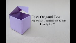 How to: Origami Box with one paper sheet | Tutorial |Cindy DIY