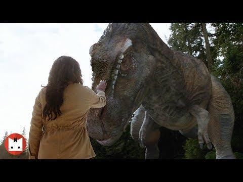 女孩面对霸王龙临危不乱,化身母龙形态深入交流,硬是逼退霸王龙。【明日传奇S2#6】