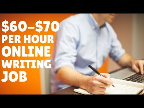 Online Writing Job Paying $60-$70 Per Hour Hiring NOW