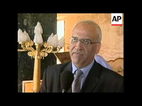 Erekat reacts to cancelled ceremony, Israeli military