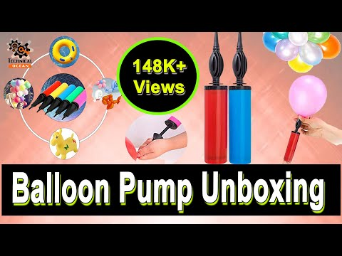 Handheld Double Action Fast Balloon Pump Unboxing