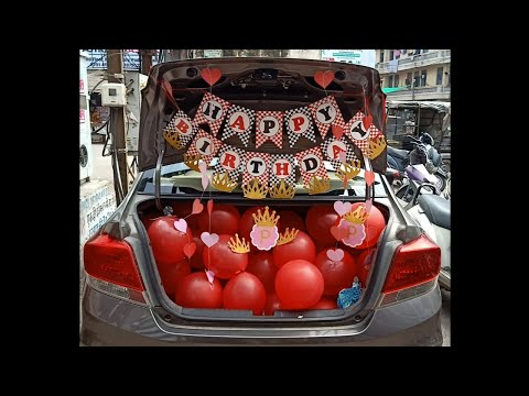 surprise-birthday-decoration-#car-compartment-#jmdeventsgwl