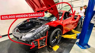 I FOUND $25,000 OF HIDDEN DAMAGE ON MY NEW FERRARI! *UNBELIEVABLE*