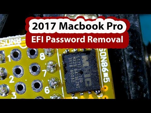 2017 Macbook Pro A1708 EFI Password Removal / QFN Chip Programming TL866II Plus