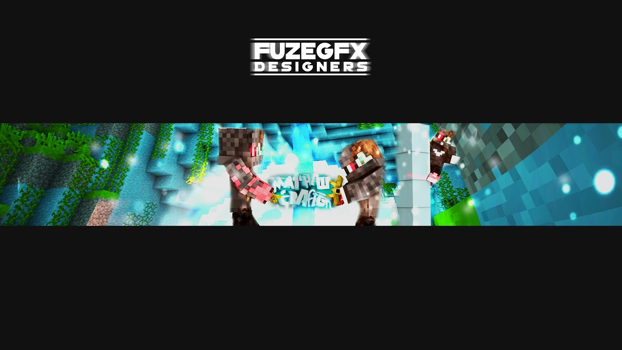 Minecraft Youtube Banner+Profile picture | Speed Art ...