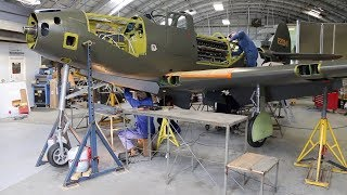 Bell P-39 Airacobra Rebuild  Nears Completion at Pioneer Aero Auckland New Zealand - 2018