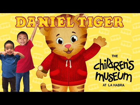 Meeting Daniel Tiger at the Children's Museum at La Habra: T