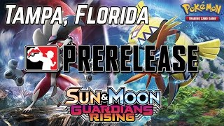 Pokemon Cards - Sun & Moon Guardians Rising Prerelease Pack Opening! | Tampa, Florida