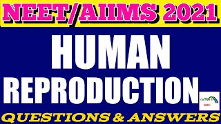 #41 Free Mock Test On Human Reproduction For NEET/AIIMS 2020 | #SWARNIMBIOLOGYCLASSES