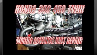 honda 350 450 twin ignition timing advance unit