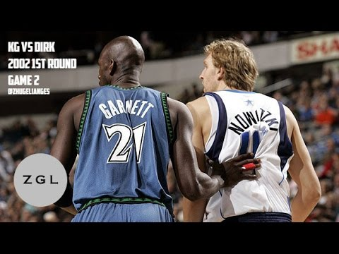 Kevin Garnett vs Dirk Nowitzki Duel Highlights: 2002 First Round Game 2 (62Pts, 33Rebs Combined!!)