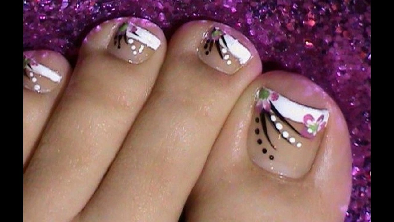 Toe Uñas Decoradas Ideas Faciles Y Bonitas Youtube