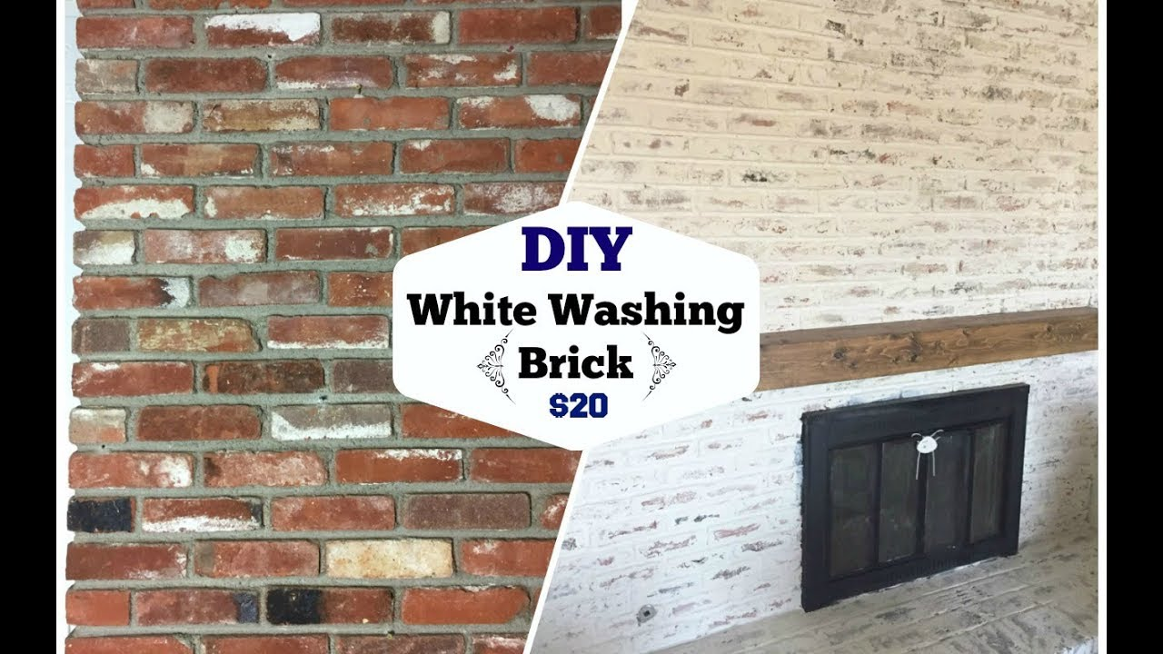Lime Wash Brick Fireplace How To Whitewash Brick Mortar Wash Technique 20