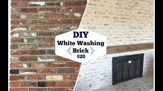 HOW TO WHITEWASH BRICK \\ MORTAR WASH TECHNIQUE $20