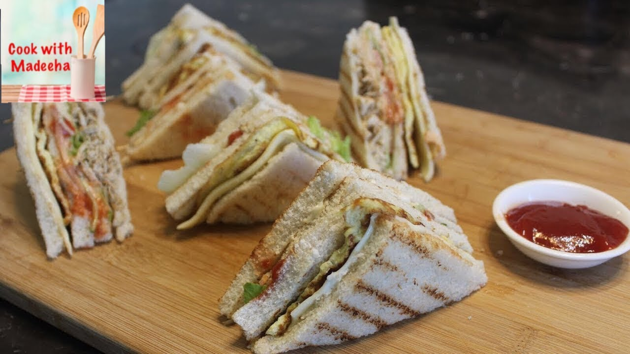 How To Make Chicken Club Sandwiches Club Sandwich Recipe By Cook With Madeeha