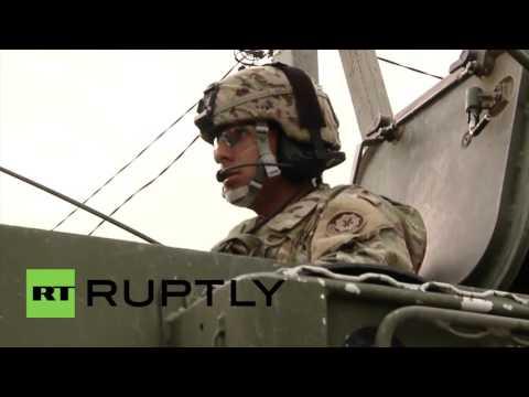 Moldova: Anti-NATO rally blocks US military vehicles as joint drills begin