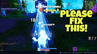 Fortnite needs to fix this glitch right now (You eliminated yourself)