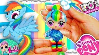 DIY MY LITTLE PONY LOL Surprise Custom Doll ⭐️ MLP RAINBOW DASH | LOL Dolls Vídeos & Toy UNBOXING
