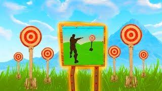Fortnite: Erziele mindestens 3 Punkte bei verschiedenen Schießständen! | Herausforderungen Woche 4